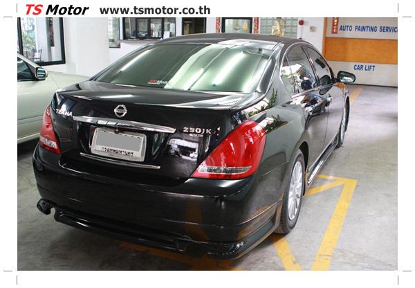 IMG 4035 งานเคาะ พ่นสีรอบคัน Nissan TEANA  สีดำ โดยการ เคลมประกัน โดย TS Motor