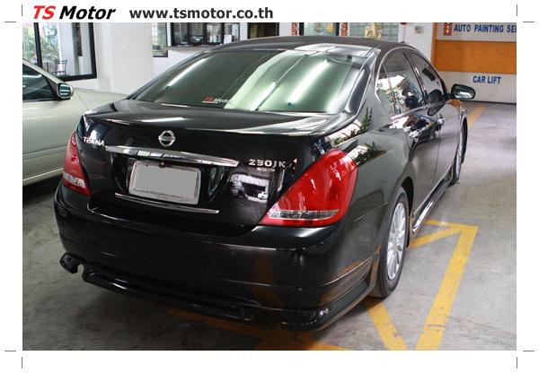IMG 4036 งานเคาะ พ่นสีรอบคัน Nissan TEANA  สีดำ โดยการ เคลมประกัน โดย TS Motor