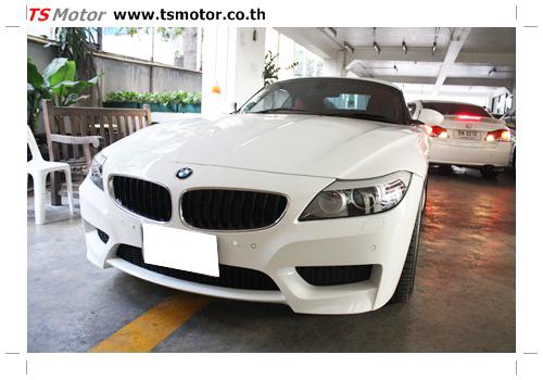 IMG 0349 BMW Z4 Repair front bumper quick service spot repair by TS MOTOR Car garage bangkok