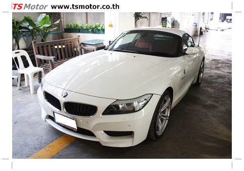IMG 0352 BMW Z4 Repair front bumper quick service spot repair by TS MOTOR Car garage bangkok