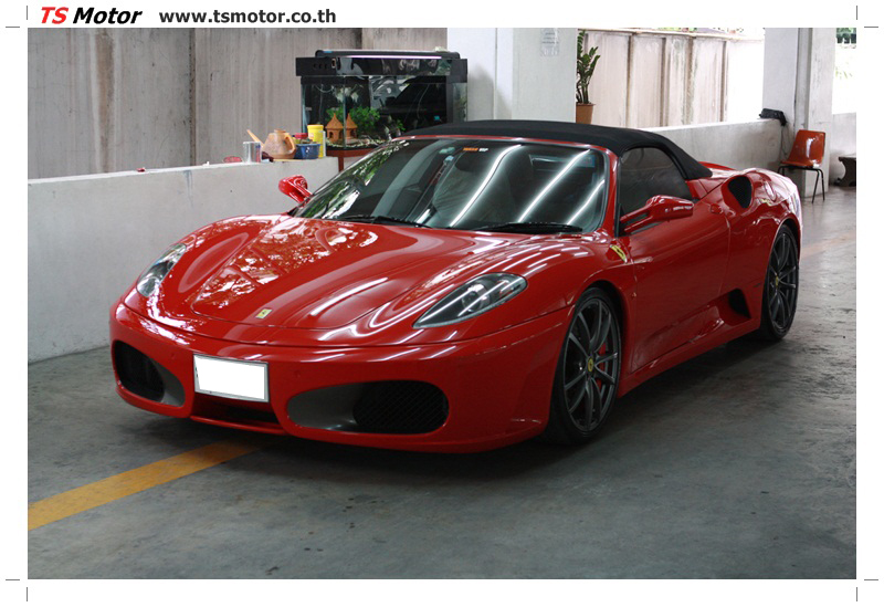 IMG 4163 อู่ทำสีรถ งานซ่อมสี เคลมประกัน Ferrari F430 สีแดง
