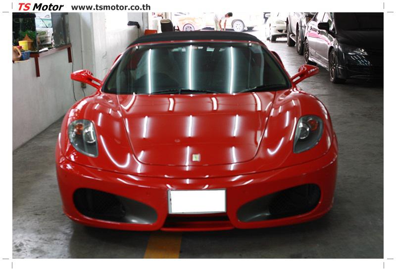 IMG 4172 อู่ทำสีรถ งานซ่อมสี เคลมประกัน Ferrari F430 สีแดง