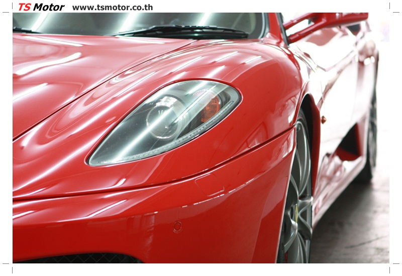 IMG 4177 อู่ทำสีรถ งานซ่อมสี เคลมประกัน Ferrari F430 สีแดง