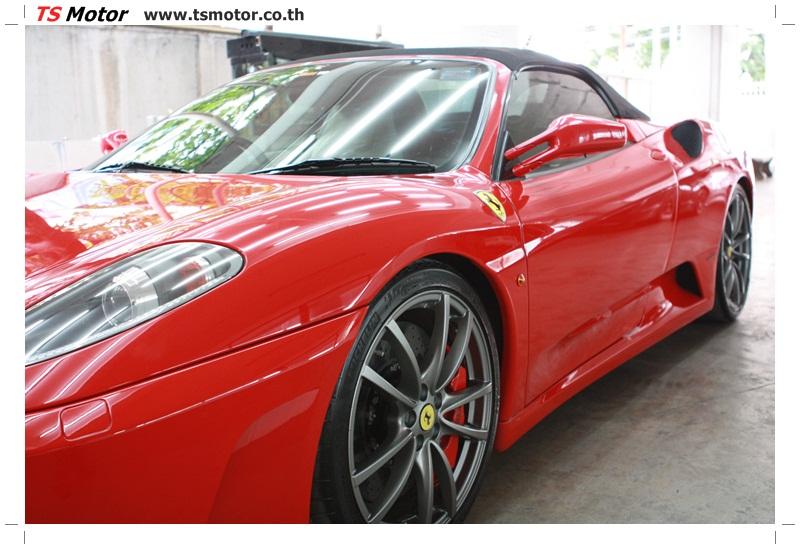 IMG 4184 อู่ทำสีรถ งานซ่อมสี เคลมประกัน Ferrari F430 สีแดง