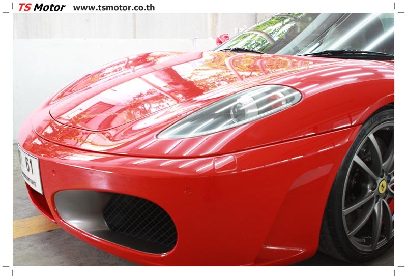 IMG 4185 อู่ทำสีรถ งานซ่อมสี เคลมประกัน Ferrari F430 สีแดง