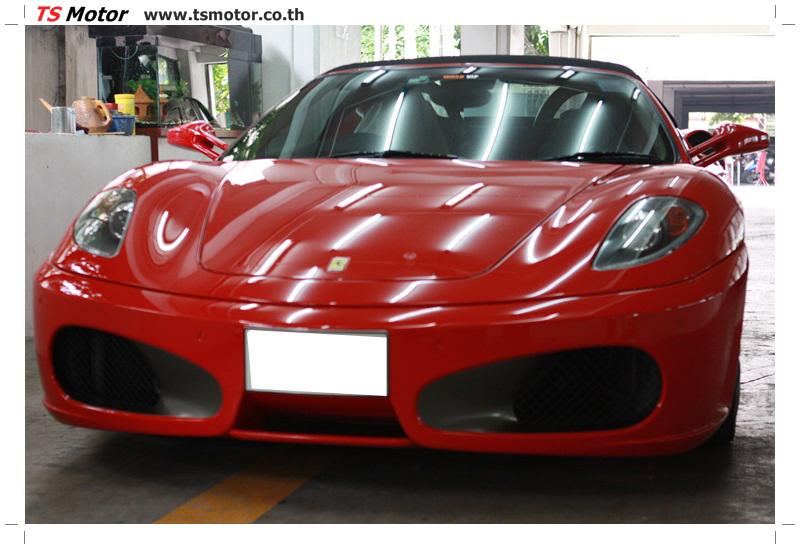 IMG 4192 อู่ทำสีรถ งานซ่อมสี เคลมประกัน Ferrari F430 สีแดง