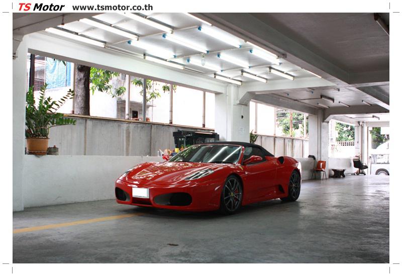 IMG 4205 อู่ทำสีรถ งานซ่อมสี เคลมประกัน Ferrari F430 สีแดง