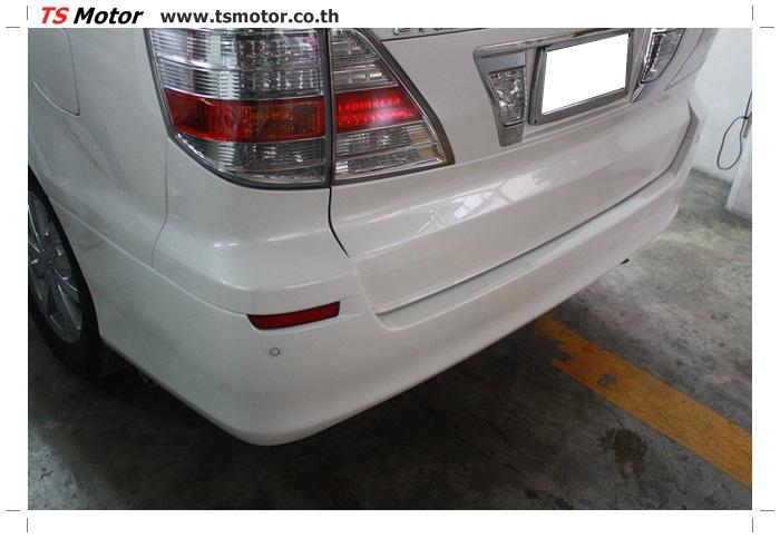 IMG 4726 อู่สี งานซ่อมสี กันชนหน้า และ กันชนหลัง  Toyota Alphard สีขาวมุก