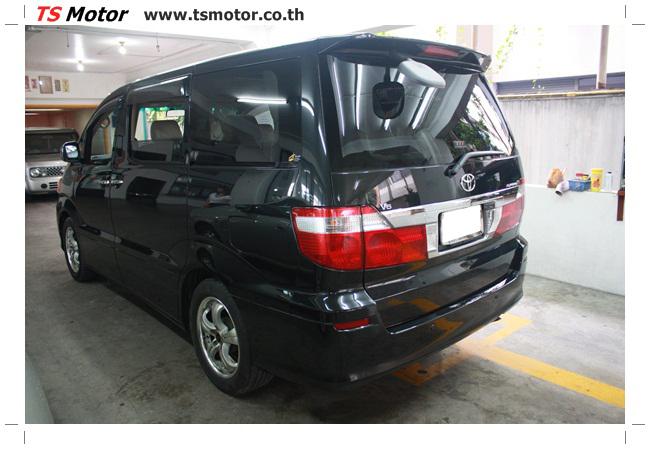 IMG 4766 อู่สี งานพ่นสีรอบคัน Toyota Alphard สีดำ เนียนๆ จาก TS Motor