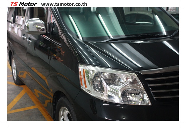 IMG 4771 อู่สี งานพ่นสีรอบคัน Toyota Alphard สีดำ เนียนๆ จาก TS Motor
