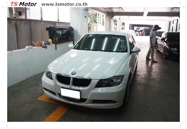 IMG 4987 อู่สี ทีเอส มอเตอร์ งานซ่อม BMW  E90 320d ชนด้านหลัง เก็บรายละเอียดเพื่อความเรียบร้อย