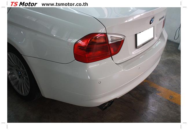 IMG 4988 อู่สี ทีเอส มอเตอร์ งานซ่อม BMW  E90 320d ชนด้านหลัง เก็บรายละเอียดเพื่อความเรียบร้อย