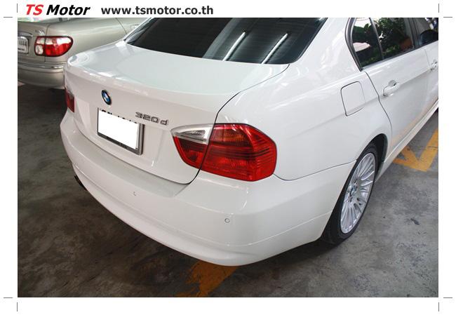 IMG 4989 อู่สี ทีเอส มอเตอร์ งานซ่อม BMW  E90 320d ชนด้านหลัง เก็บรายละเอียดเพื่อความเรียบร้อย