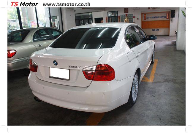IMG 4990 อู่สี ทีเอส มอเตอร์ งานซ่อม BMW  E90 320d ชนด้านหลัง เก็บรายละเอียดเพื่อความเรียบร้อย