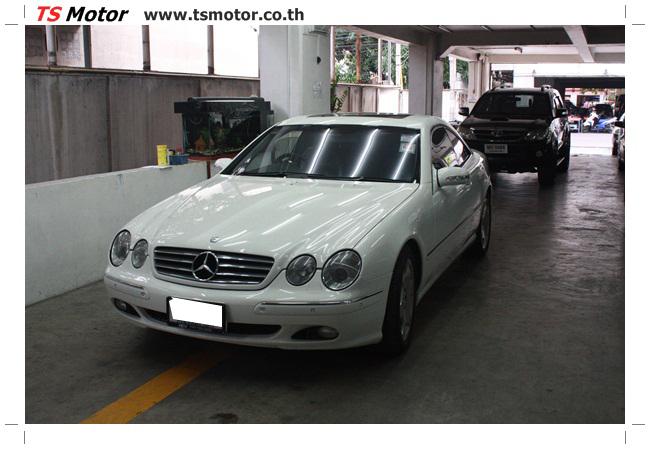 IMG 5083 อู่สี พ่นสีรอบคัน Merc Benz CL500 สีขาว