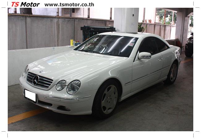 IMG 5084 อู่สี พ่นสีรอบคัน Merc Benz CL500 สีขาว