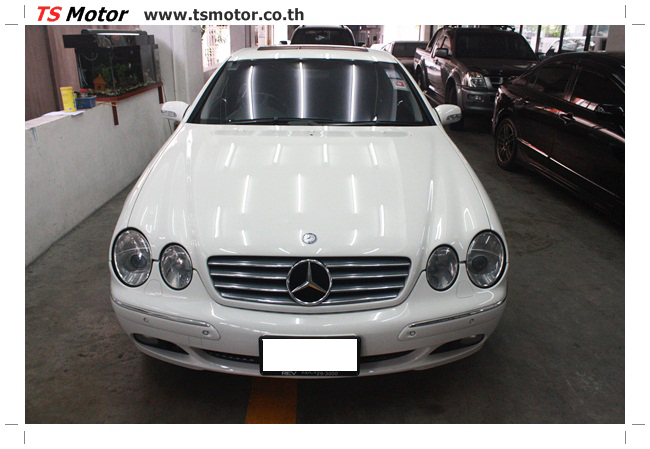 IMG 5086 อู่สี พ่นสีรอบคัน Merc Benz CL500 สีขาว