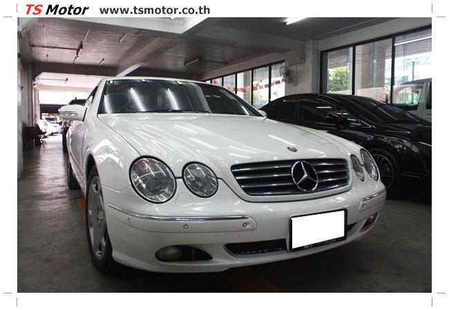 IMG 5087 อู่สี พ่นสีรอบคัน Merc Benz CL500 สีขาว