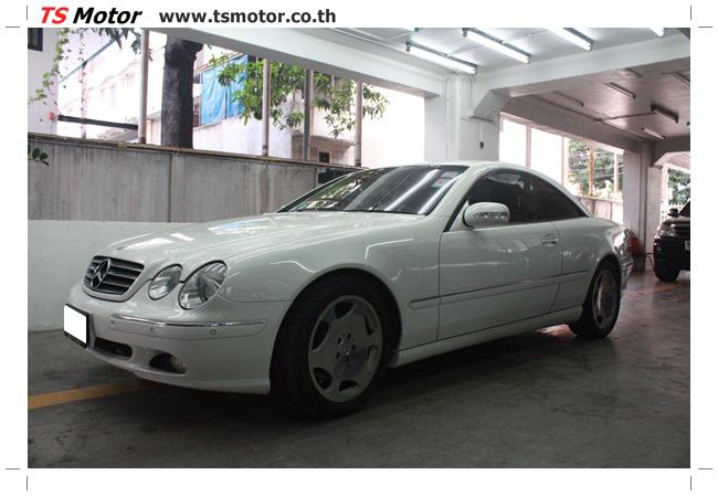 IMG 5089 อู่สี พ่นสีรอบคัน Merc Benz CL500 สีขาว