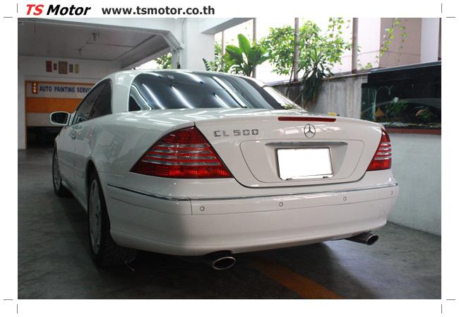 IMG 5091 อู่สี พ่นสีรอบคัน Merc Benz CL500 สีขาว