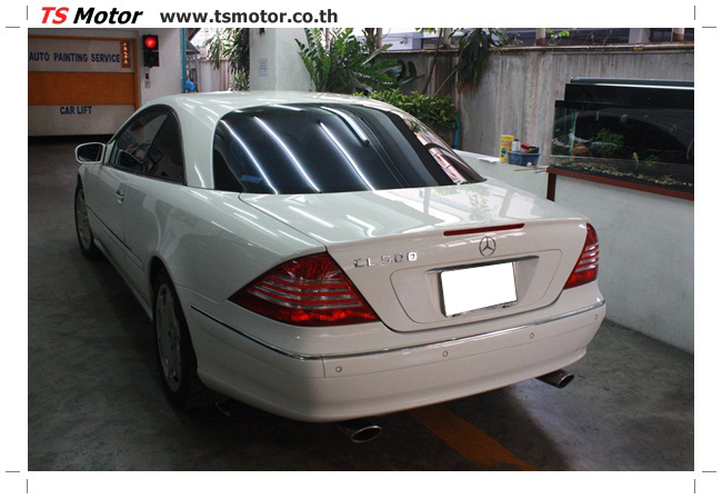 IMG 5092 อู่สี พ่นสีรอบคัน Merc Benz CL500 สีขาว