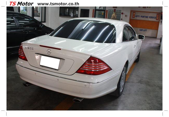 IMG 5093 อู่สี พ่นสีรอบคัน Merc Benz CL500 สีขาว