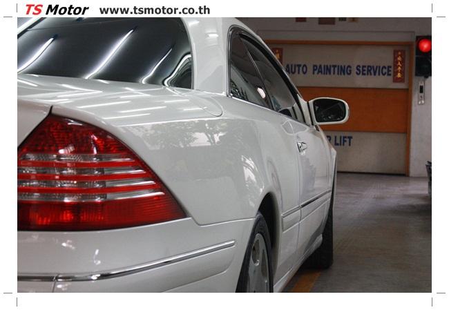 IMG 5094 อู่สี พ่นสีรอบคัน Merc Benz CL500 สีขาว
