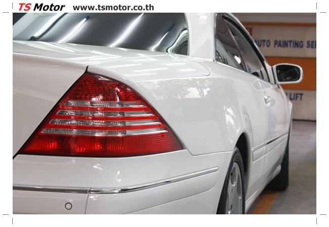 IMG 5095 อู่สี พ่นสีรอบคัน Merc Benz CL500 สีขาว