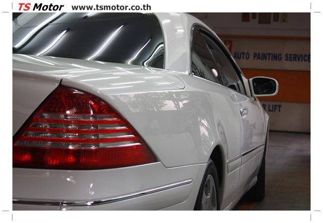IMG 5096 อู่สี พ่นสีรอบคัน Merc Benz CL500 สีขาว