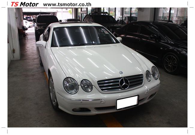IMG 5101 อู่สี พ่นสีรอบคัน Merc Benz CL500 สีขาว