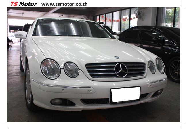 IMG 5103 อู่สี พ่นสีรอบคัน Merc Benz CL500 สีขาว