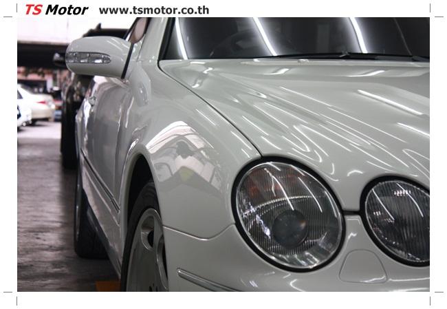 IMG 5104 อู่สี พ่นสีรอบคัน Merc Benz CL500 สีขาว