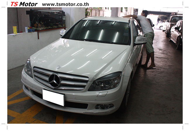 IMG 5351 ศูนย์บริการซ่อมสีรถยนต์ TS Motor ผลงานซ่อมสี Mercedes Benz W204
