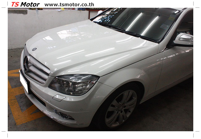 IMG 5352 ศูนย์บริการซ่อมสีรถยนต์ TS Motor ผลงานซ่อมสี Mercedes Benz W204