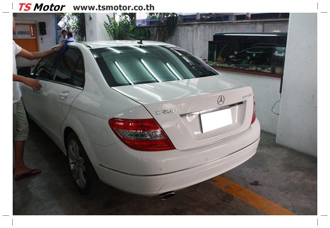 IMG 5353 ศูนย์บริการซ่อมสีรถยนต์ TS Motor ผลงานซ่อมสี Mercedes Benz W204