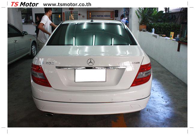 IMG 5354 ศูนย์บริการซ่อมสีรถยนต์ TS Motor ผลงานซ่อมสี Mercedes Benz W204