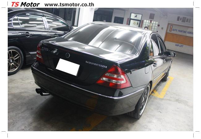 IMG 5465 ศูนย์บริการซ่อมสีรถยนต์ TS Motor ผลงานพ่นสี Mercedes Benz C230 KOM