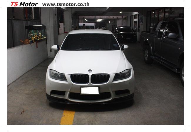 IMG 5507 แต่งรถ BMW ซีรีย์ 3 E90 LCI สีขาว เปลี่ยนพ่นสีฝากระโปรงหลังไฟเบอร์ โฉบเฉี่ยว ดุดัน