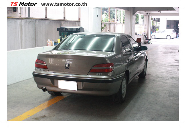 IMG 5564 อู่สีรถ ที เอส มอเตอร์ งานซ่อมสี เปอร์โยต์ 406 สีน้ำตาล