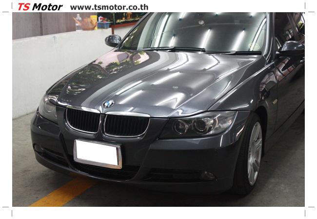 IMG 5653 งานซ่อม BMW ซีรีย์ 3 E90 สีเทา เปลี่ยนบังโคลนหน้า เคาะประตู และชิ้นงานอื่นๆ