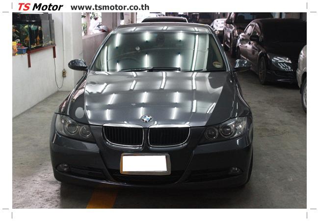 IMG 5655 งานซ่อม BMW ซีรีย์ 3 E90 สีเทา เปลี่ยนบังโคลนหน้า เคาะประตู และชิ้นงานอื่นๆ