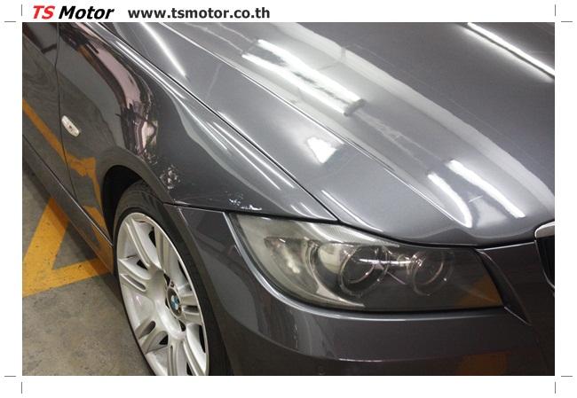 IMG 5658 งานซ่อม BMW ซีรีย์ 3 E90 สีเทา เปลี่ยนบังโคลนหน้า เคาะประตู และชิ้นงานอื่นๆ