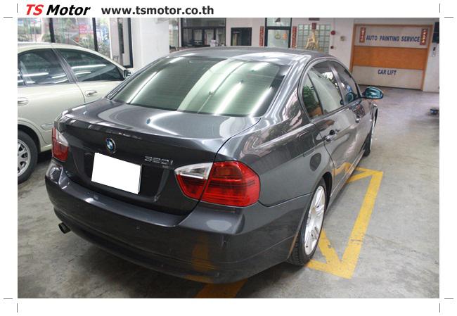 IMG 5660 งานซ่อม BMW ซีรีย์ 3 E90 สีเทา เปลี่ยนบังโคลนหน้า เคาะประตู และชิ้นงานอื่นๆ