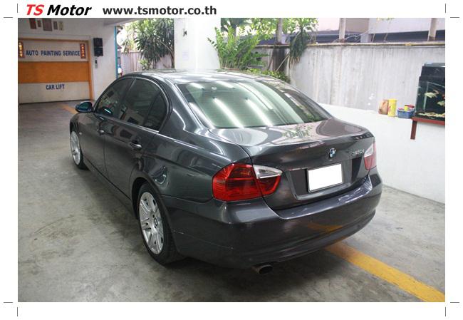 IMG 5661 งานซ่อม BMW ซีรีย์ 3 E90 สีเทา เปลี่ยนบังโคลนหน้า เคาะประตู และชิ้นงานอื่นๆ