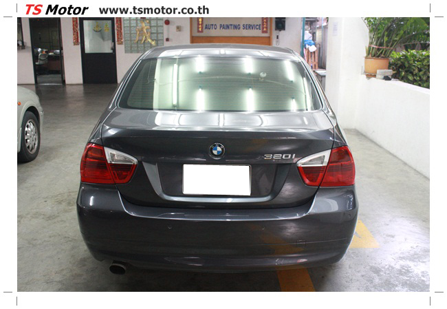 IMG 5662 งานซ่อม BMW ซีรีย์ 3 E90 สีเทา เปลี่ยนบังโคลนหน้า เคาะประตู และชิ้นงานอื่นๆ