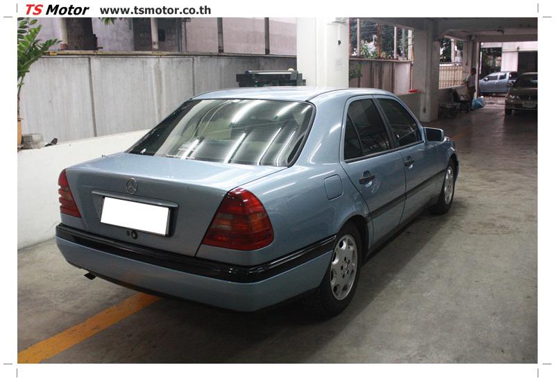 IMG 5672 เปลี่ยนพ่นสี กันชนหลัง กาบ Mercedes BENZ C Class เทียบอะไหล่กับกันชนไต้หวัน