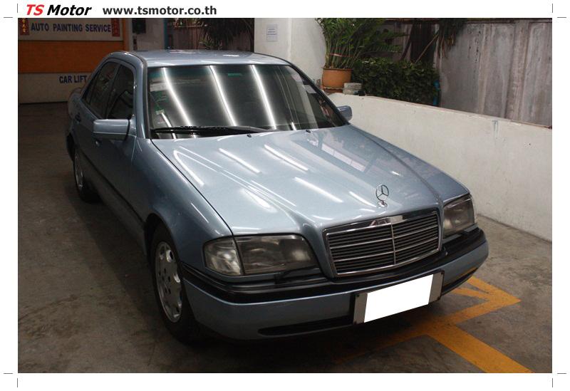 IMG 5674 เปลี่ยนพ่นสี กันชนหลัง กาบ Mercedes BENZ C Class เทียบอะไหล่กับกันชนไต้หวัน
