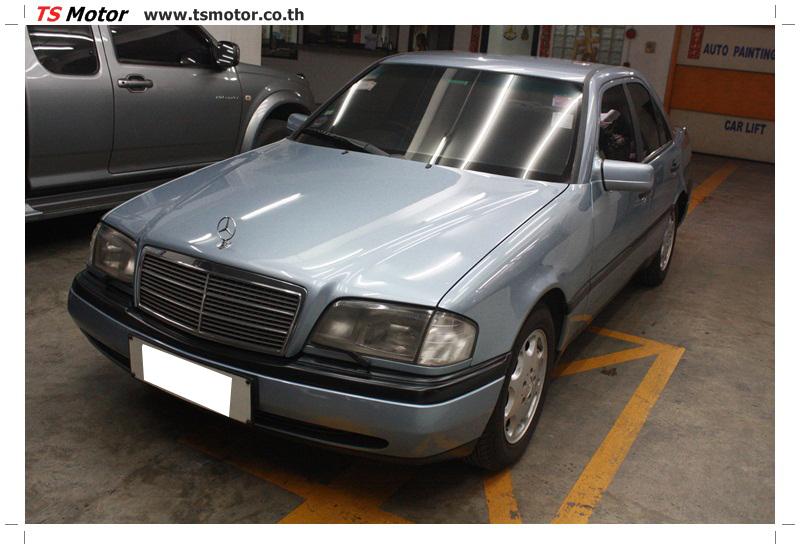 IMG 5675 เปลี่ยนพ่นสี กันชนหลัง กาบ Mercedes BENZ C Class เทียบอะไหล่กับกันชนไต้หวัน