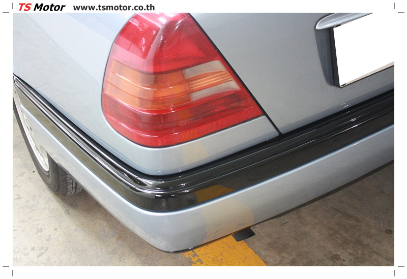 IMG 5677 เปลี่ยนพ่นสี กันชนหลัง กาบ Mercedes BENZ C Class เทียบอะไหล่กับกันชนไต้หวัน