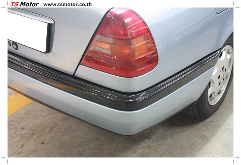 IMG 5678 เปลี่ยนพ่นสี กันชนหลัง กาบ Mercedes BENZ C Class เทียบอะไหล่กับกันชนไต้หวัน